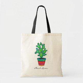 Tote Bag Cactus magnifique d'aquarelle dans le beau pot
