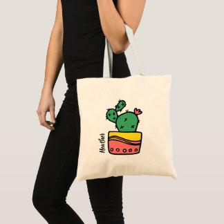 Tote Bag Cactus nommé fait sur commande
