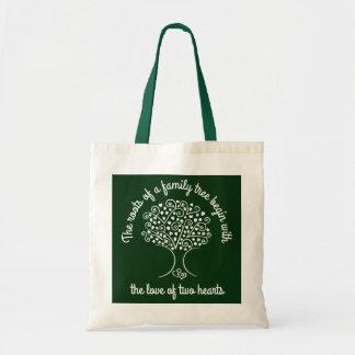 Tote Bag Cadeau de blanc de généalogie de coeurs