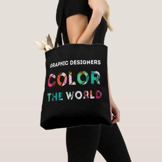 Tote Bag Cadeau de concepteur. Les concepteurs colorent le
