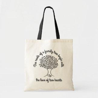 Tote Bag Cadeau de généalogie de coeurs d'ascendance