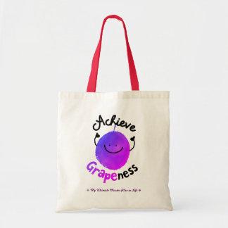 Tote Bag Calembour positif de raisin - réalisez Grapeness