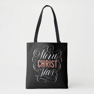 Tote Bag Calligraphie rouge religieuse de chapiteau de