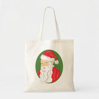 Tote Bag Camée du père noël de Noël