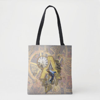 Tote Bag capital-lettre A d'Alphabet-monogramme