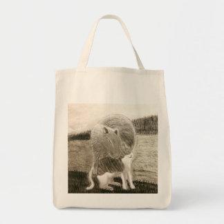 Tote Bag Capybara et le chat
