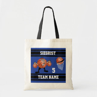 Tote Bag Caractère sportif de basket-ball de bande dessinée