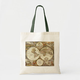 Tote Bag Carte antique du monde, C. 1680. Par Frederick de