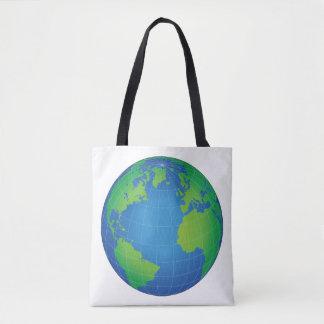 Tote Bag Carte de globe du monde