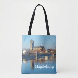 Tote Bag Cathédrale de Magdebourg avec la rivière Elbe