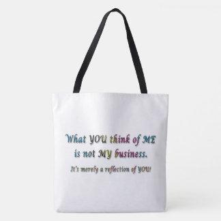 Tote Bag Ce que vous pensez à moi