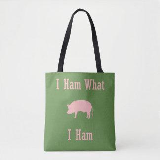 Tote Bag Ce qui pays Fourre-tout d'amant de porc de jambon