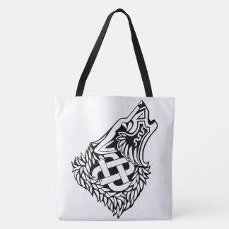 Tote Bag Celtic hurlant Knotwork Fourre-tout de loup