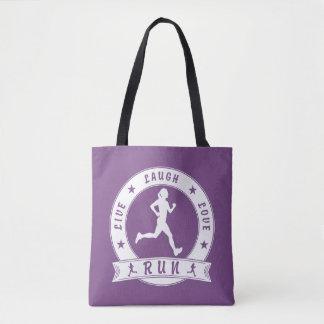 Tote Bag Cercle femelle COURU par amour vivant de rire