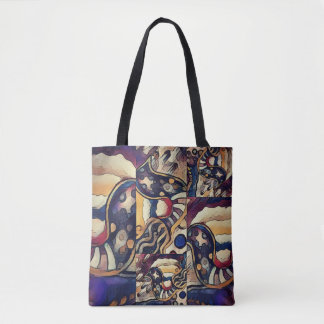 Tote Bag Cercles et rayures