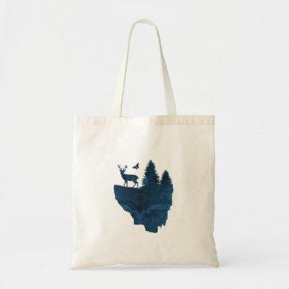 Tote Bag Cerfs communs sur une île de flottement