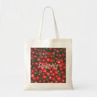 Tote Bag Cerise rouge - je t'aime (texte personnalisable)