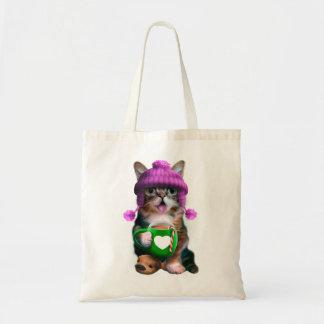 Tote Bag Chat avec la tasse - tasse de café de chat -