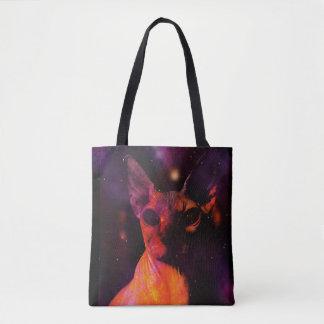 Tote Bag Chat cosmique de Sphynx
