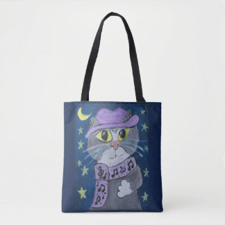 Tote Bag Chat de jazz d'art populaire