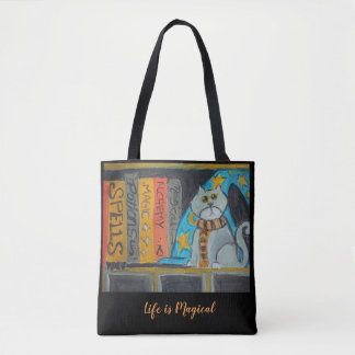 Tote Bag Chat de magicien d'art populaire