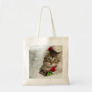 Tote Bag Chat de Noël - chat de chaton - chats mignons