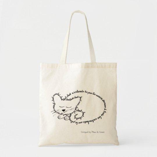 Tote Bag Chat dormant, chat charmant