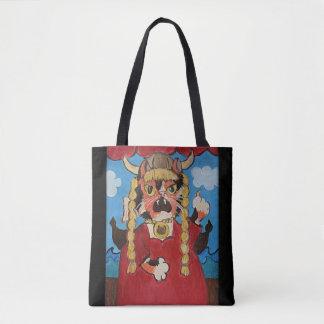 Tote Bag Chat drôle d'opéra d'art populaire