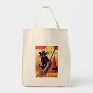 Tote Bag Chat noir vintage de Halloween