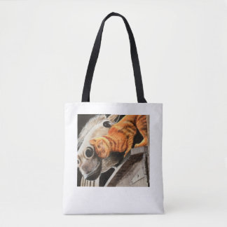 Tote Bag Chat tigré et cheval