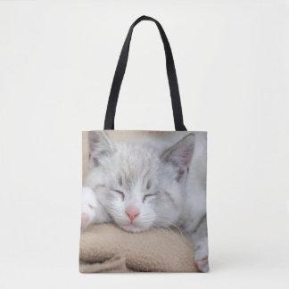 Tote Bag Chaton 2 de sommeil