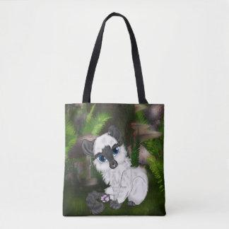 Tote Bag Chaton pelucheux blanc adorable