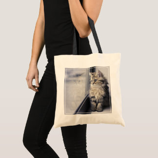 Tote Bag Chaton regardant la fenêtre