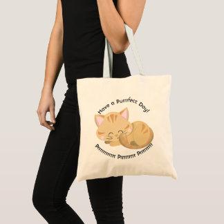 Tote Bag Chaton tigré bronzage de ronronnement de sommeil