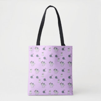 Tote Bag Chatons de tricot