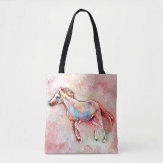 Tote Bag Cheval dans l'aquarelle