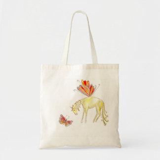 Tote Bag Cheval féerique avec un papillon