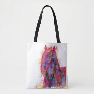Tote Bag Cheval frison en couleurs 'sauvages frisons '
