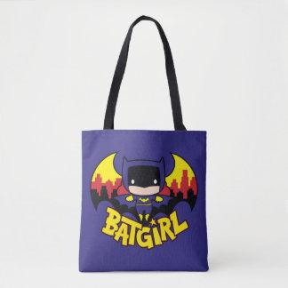 Tote Bag Chibi Batgirl avec l'horizon et le logo de Gotham