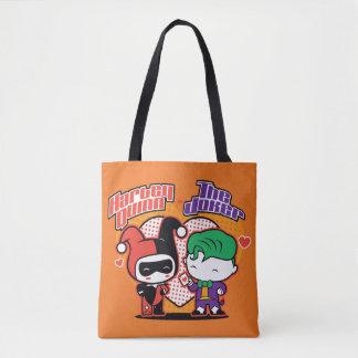 Tote Bag Chibi Harley Quinn et coeurs de joker de Chibi