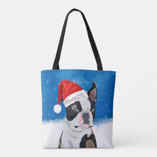 Tote Bag Chien de Boston Terrier dans des vacances