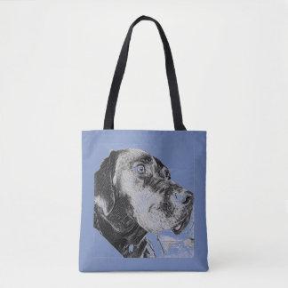 Tote Bag Chien noir Fourre-tout de Labrador