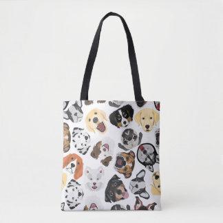 Tote Bag Chiens de motif d'illustration