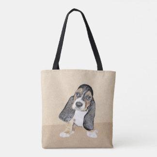 Tote Bag Chiot de Basset Hound