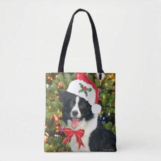 """Tote Bag Chiot"""" Fourre-tout """"de Père Noël"""