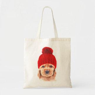 Tote Bag Chiot mignon de cocker avec le portrait de