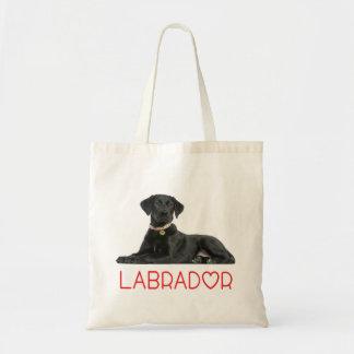 Tote Bag Chiot noir de labrador retriever - laboratoire