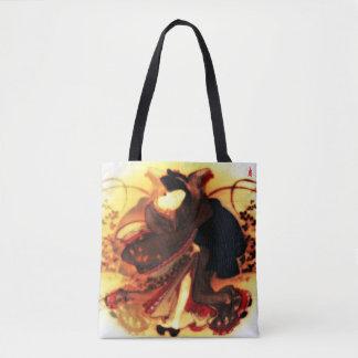 """Tote Bag chiot rouge """"beauté dans un domaine d'automne """""""