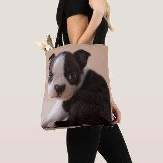 Tote Bag Chiot très jeune de Boston Terrier