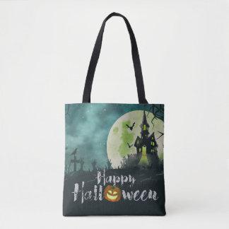 Tote Bag Ciel nocturne hanté éffrayant Halloween de costume